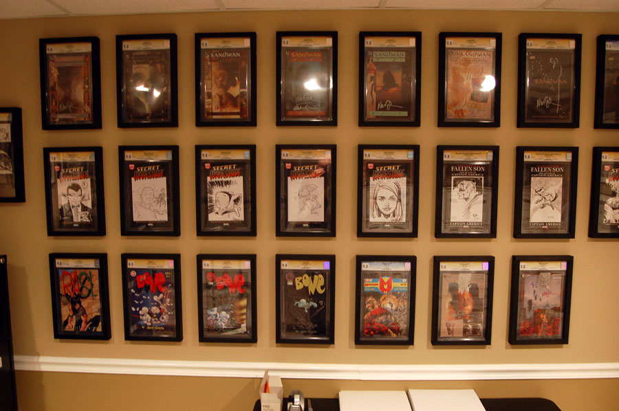 new wall mountable cgc display frames premiered at motor city collectors society message boards. Black Bedroom Furniture Sets. Home Design Ideas